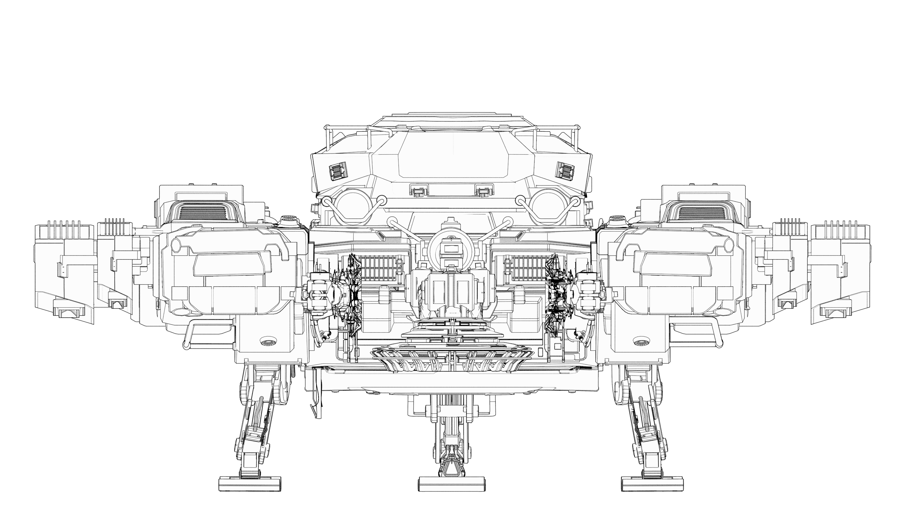 Back view of the Argo SRV